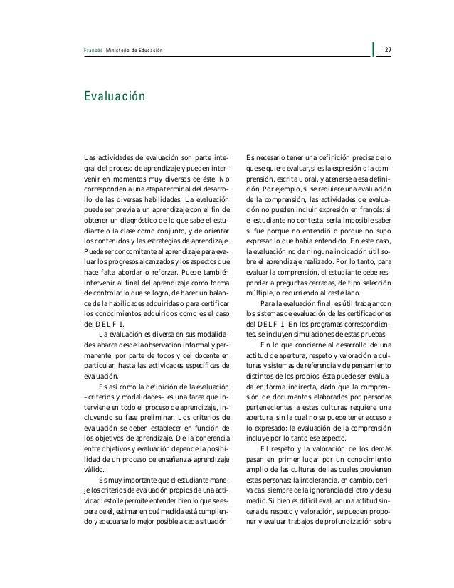 Francés Ministerio de Educación28 aspectos culturales, luego de actividades de comprensión de documentos con cierto conte-...