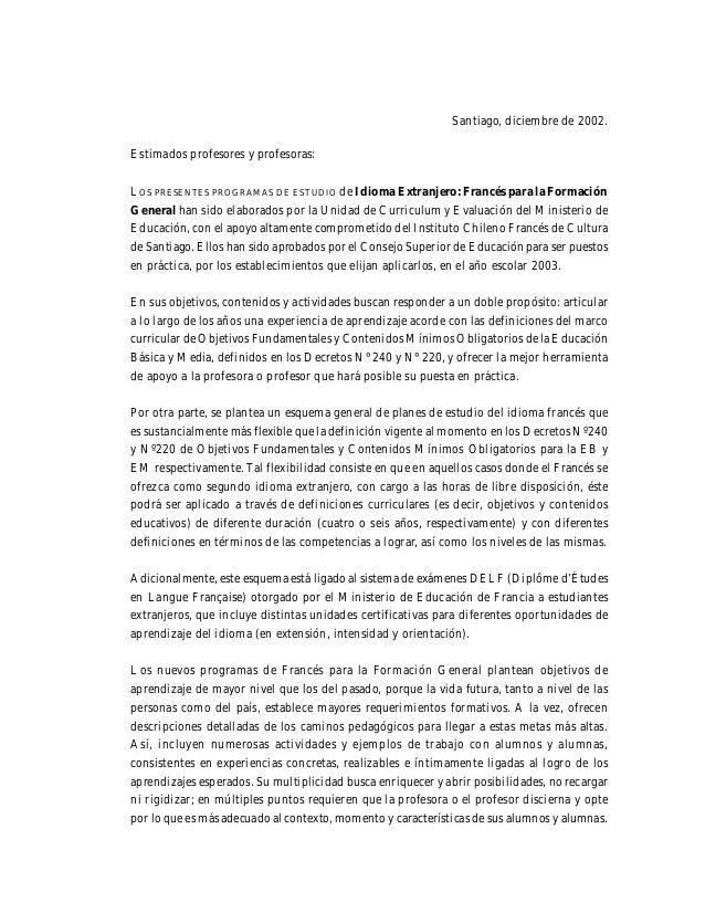 Los nuevos programas son una invitación a los docentes de Francés para ejecutar una nueva obra, que sin su concurso no es ...