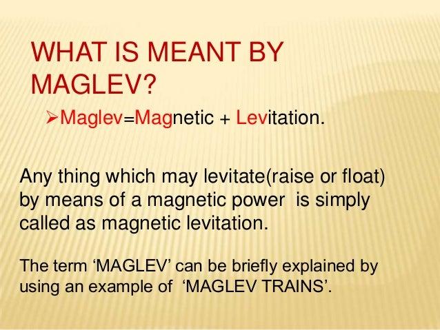 MAGLEV PPT