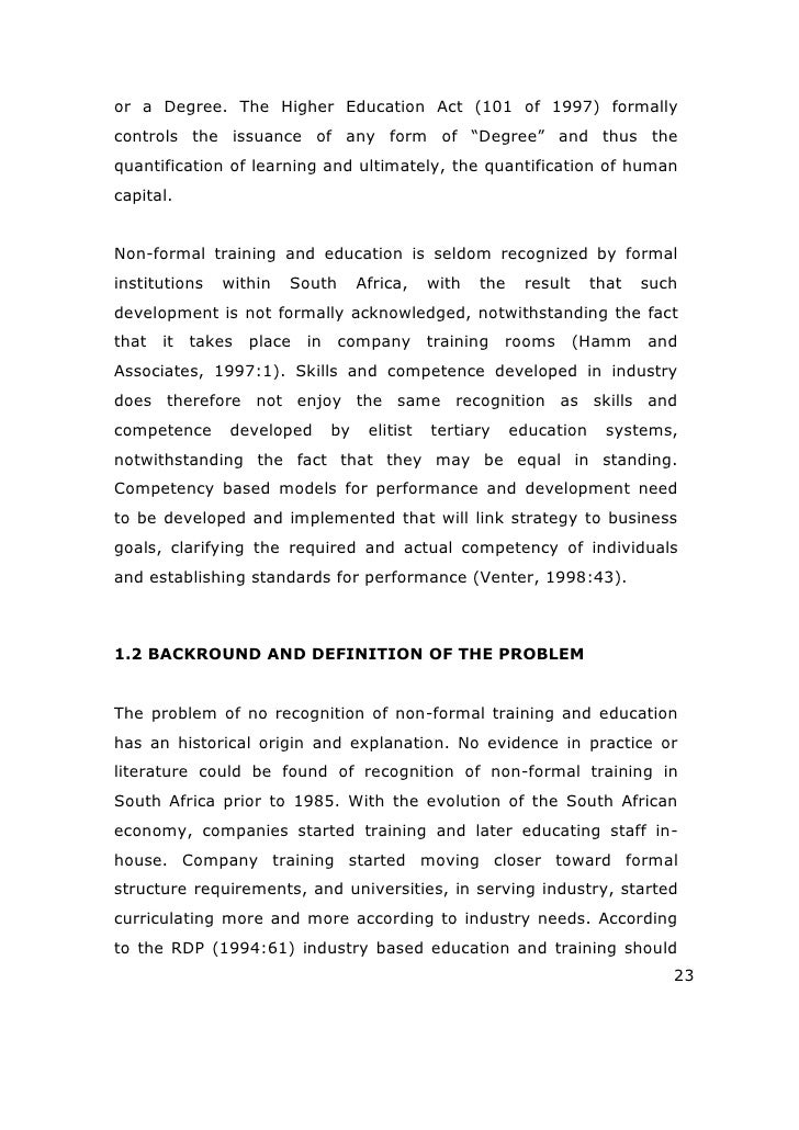 Thesis in educational management and policy