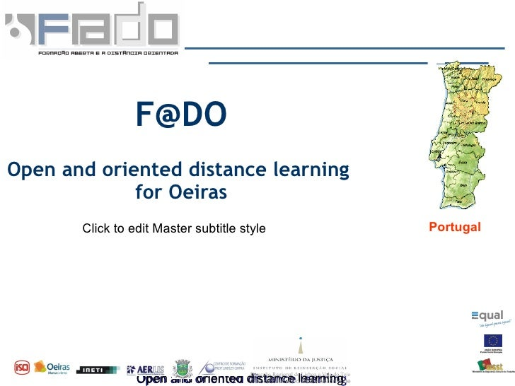F@DO Open and oriented distance learning              for Oeiras                                                          ...