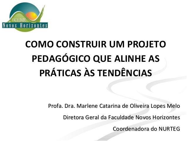 Profa. Dra. Marlene Catarina de Oliveira Lopes MeloProfa. Dra. Marlene Catarina de Oliveira Lopes Melo Diretora Geral da F...