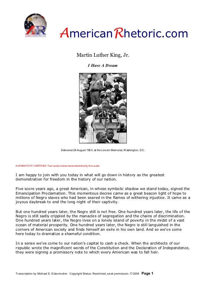 AmericanRhetoric.com                                                      MartinLutherKing,Jr.                       ...