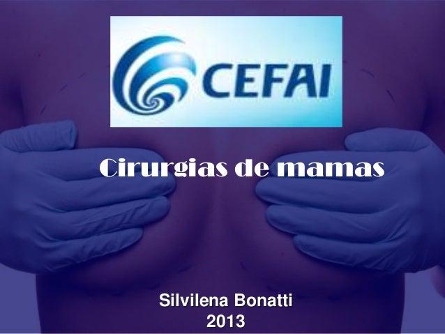 Cirurgias de mamasSilvilena Bonatti2013