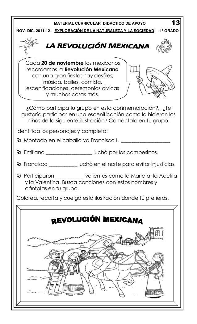 13  MATERIAL CURRICULAR DIDÁCTICO DE APOYO NOV- DIC. 2011-12  EXPLORACIÓN DE LA NATURALEZA Y LA SOCIEDAD  1º GRADO  Cada 2...