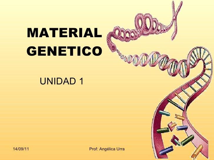 MATERIAL GENETICO UNIDAD 1
