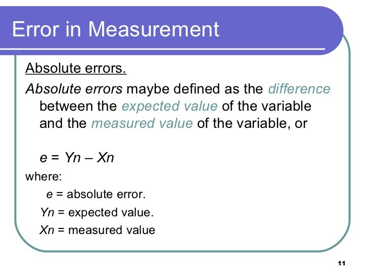 how to find the absoulte error
