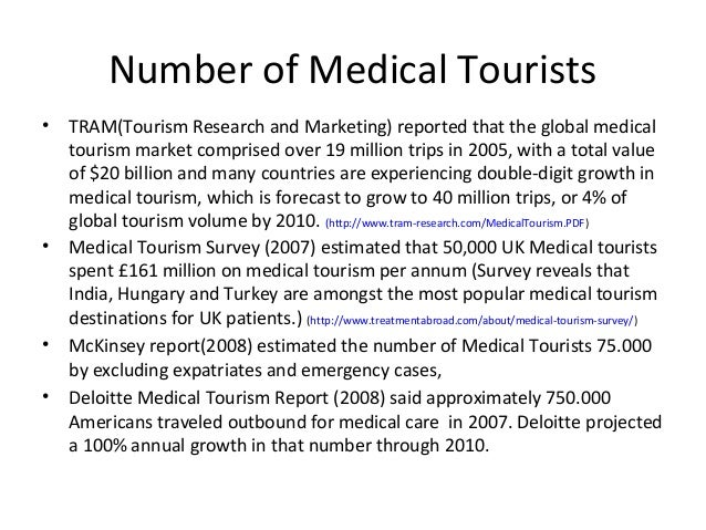 "medical tourism study case of Save thousands as a medical tourist in a growing number of them are opting to take advantage of what's called medical tourism ""medical costs can be."
