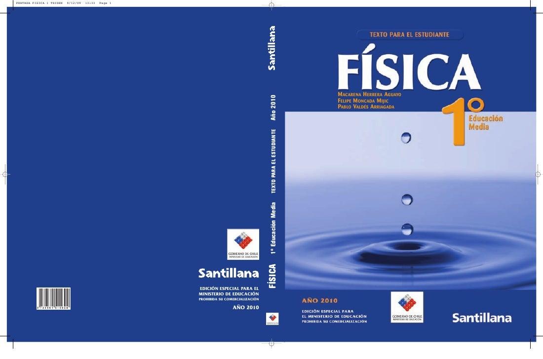 1 medio fisica santillana estudiante for Libro la quimica y la cocina pdf