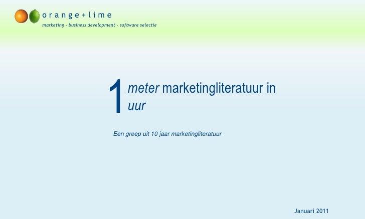 1 meter marketingliteratuur in 1 uur