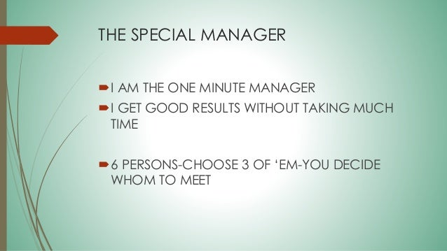ken blanchard one minute manager summary