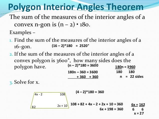 ... 10. Polygon Interior Angles Theorem ...