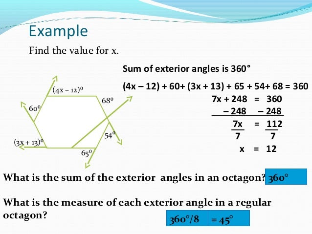 ... Polygon Exterior Angles Theorem; 14.