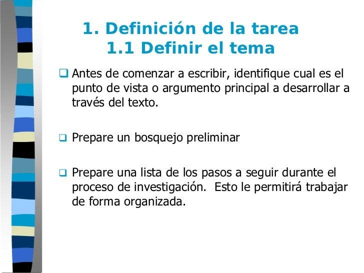 Paso 1: ENSAYO - Definición de la tarea