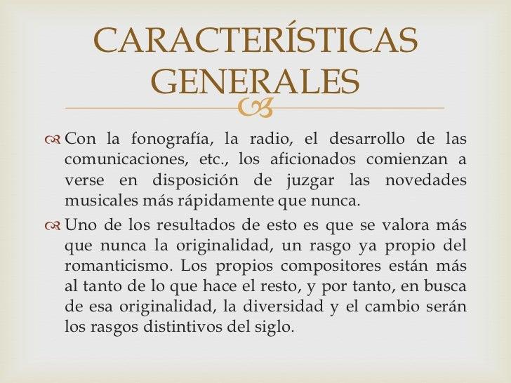1 m sica contempor nea y del siglo xx for Caracteristicas de la contemporanea