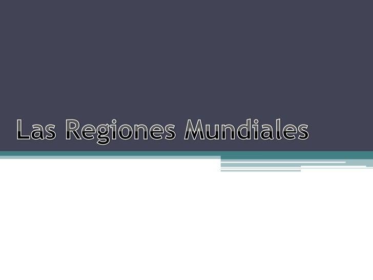 ¿Qué es una región?
