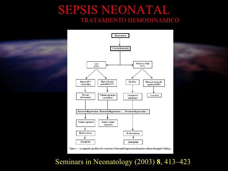 SEPSIS NEONATAL   TRATAMIENTO HEMODINAMICO Seminars in Neonatology (2003)  8 , 413–423
