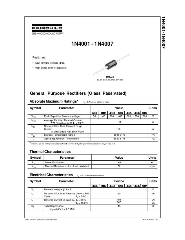 Datasheet) 1n4007 pdf smd type 1n4007-smd 1a rectifier diodes.