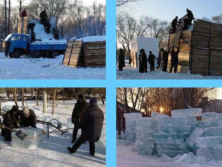 Livraison de lamatière première:                    La neige et                    la glace
