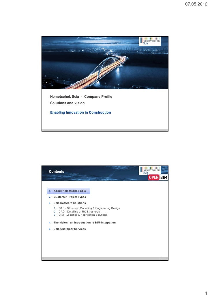 Nemetschek Scia Company Profile