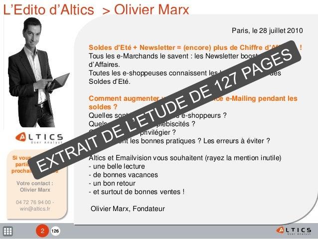 Etude Newsletters & Soldes - Altics Emailvision Slide 2