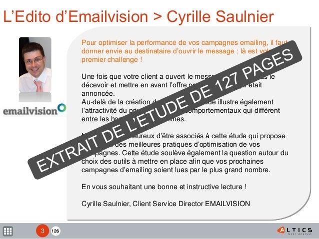 Etude Newsletters & Soldes - Altics Emailvision Slide 3