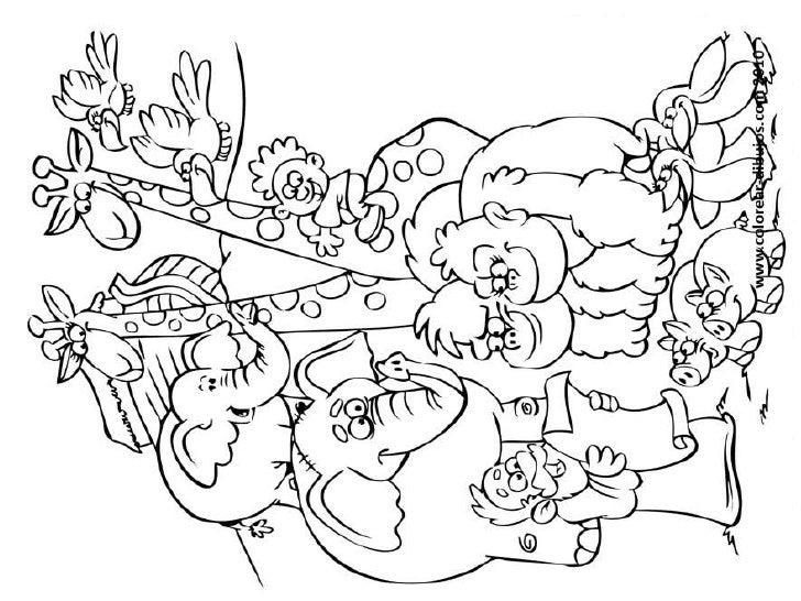Dibujos Para Colorear Del Arca De Noe Para Imprimir: Dibujos Colorear Noe Y La Paz