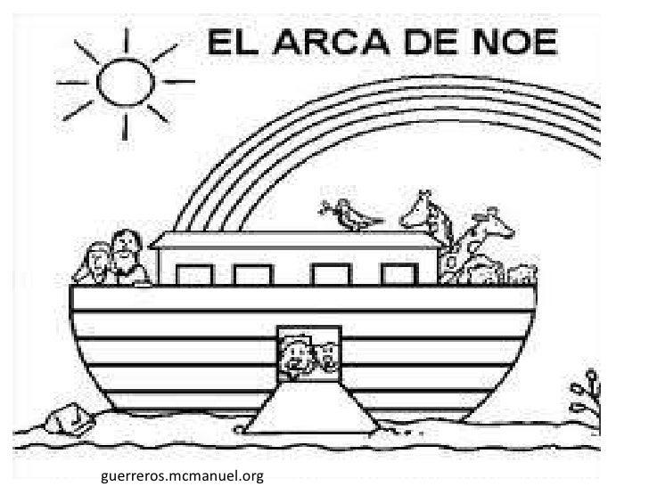 Arca De Nóe Para Colorir: Dibujos Colorear Noe Y La Paz
