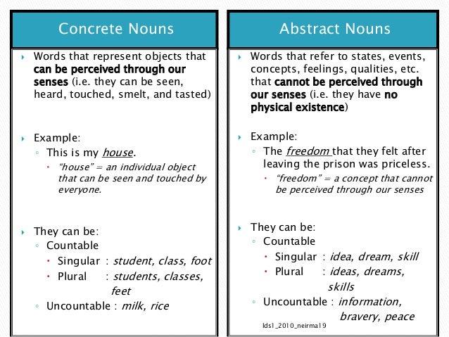 1 Nouns Lecturenotes