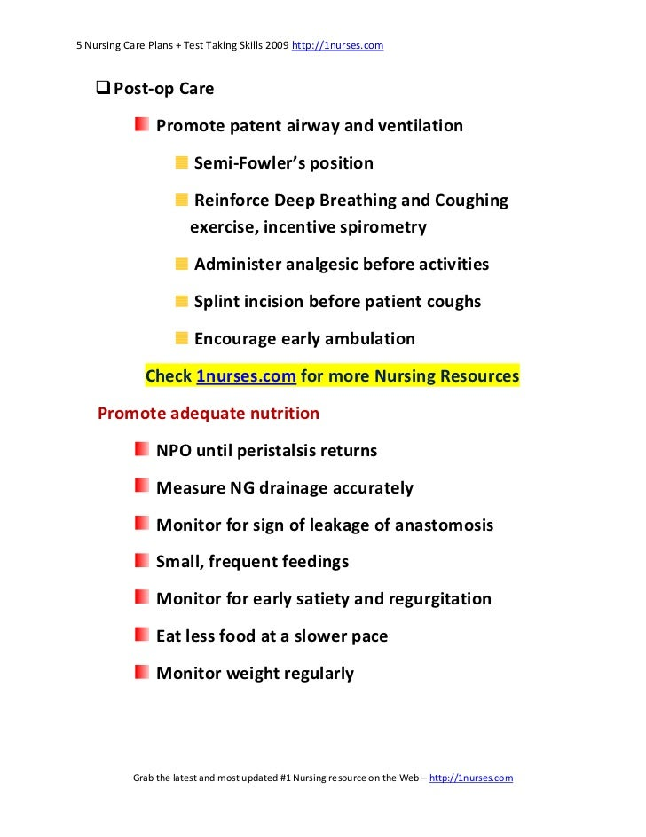 Nursing Care Plan Post Surgery Wallpaper