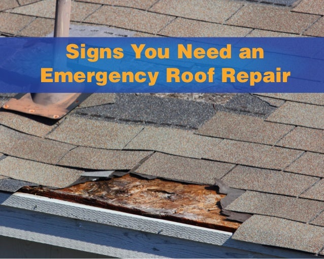 Signs You Need an Emergency Roof Repair