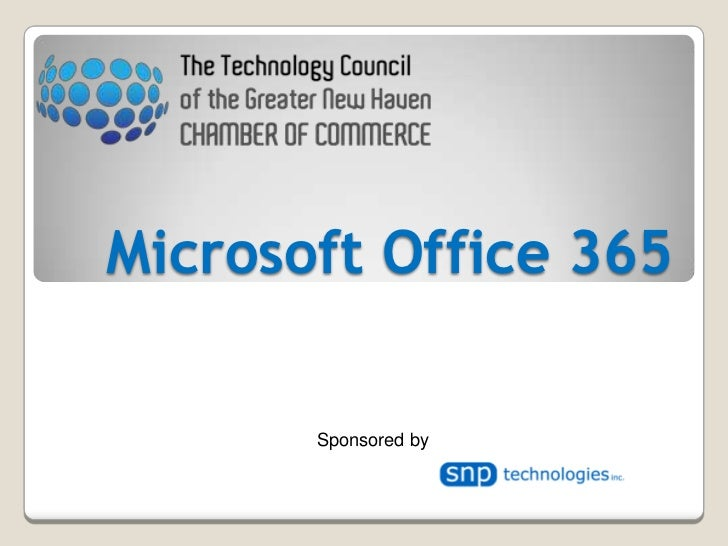 Microsoft Office 365<br />Sponsored by<br />