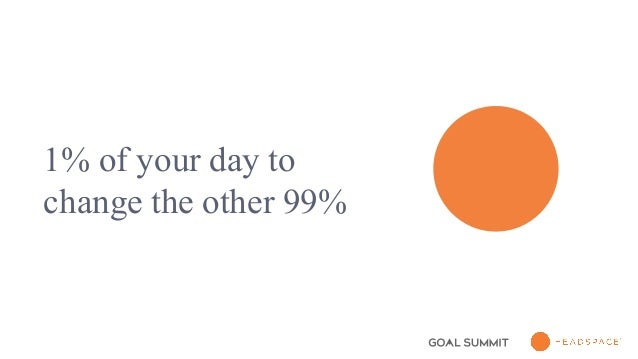 1% of your day to change the other 99%