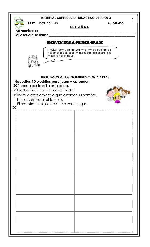 Material Para El Apoyo Escolar Niños