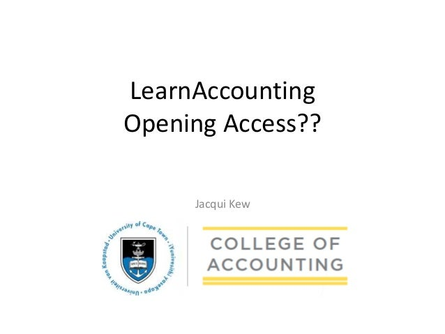 Jacqui Kew LearnAccounting Opening Access??