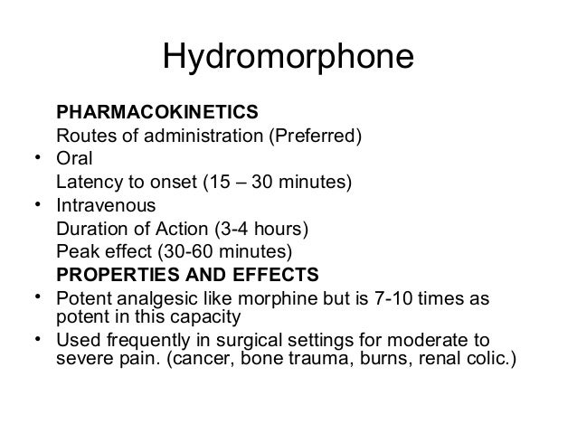 clonazepam onset peak duration hydromorphone 4