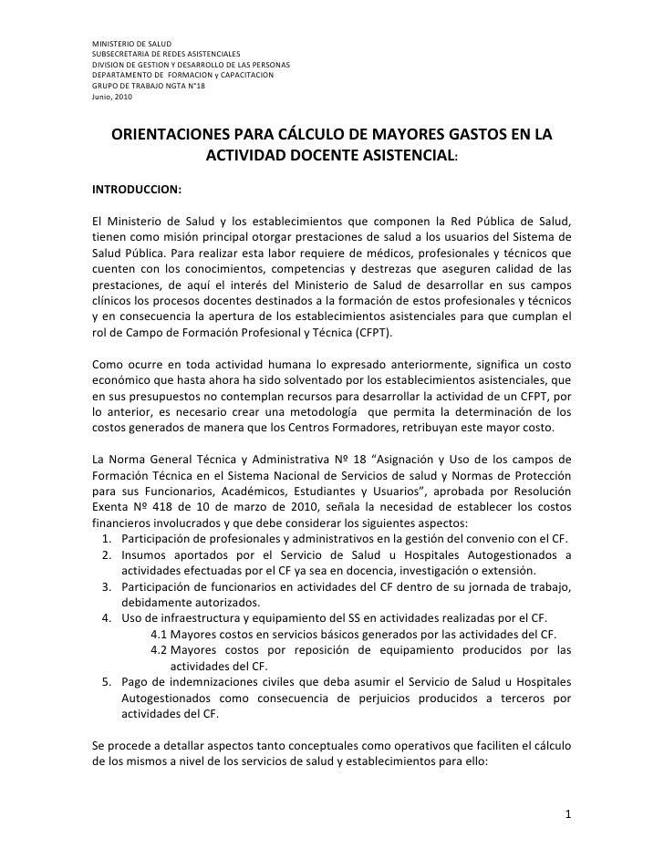 MINISTERIO DE SALUD SUBSECRETARIA DE REDES ASISTENCIALES DIVISION DE GESTION Y DESARROLLO DE LAS PERSONAS DEPARTAMENTO DE ...