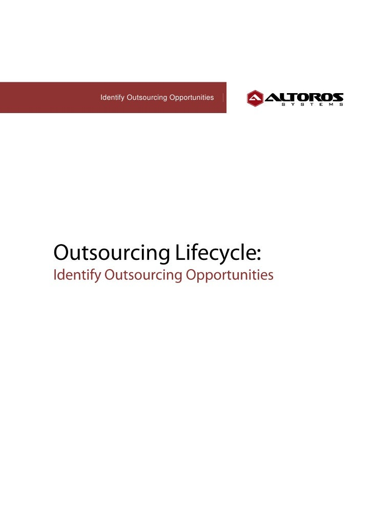 Identify Outsourcing Opportunities