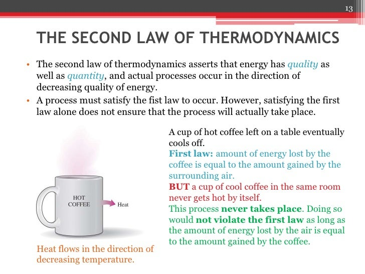 an overview of the first law of thermodynamics The first law of thermodynamics requires that the total energy of your body, muscles, and palms is the same both before and after you rub them together one example of how the first law of thermodynamics acts is the perpetual motion machine.