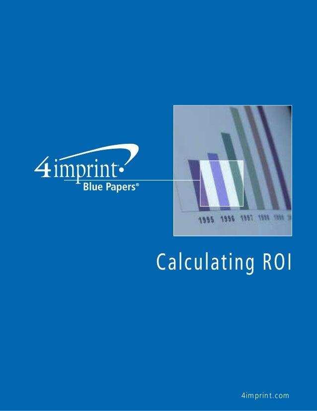 Calculating ROI  4imprint.com