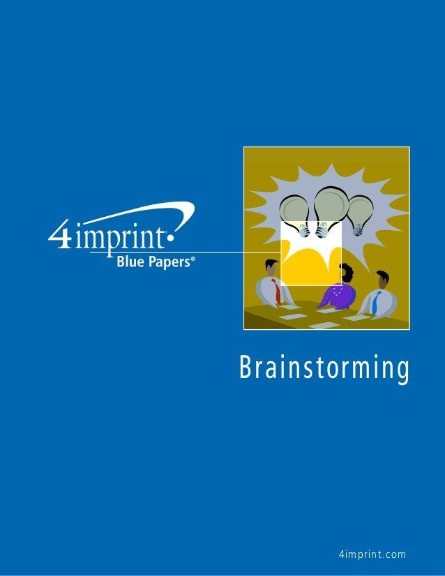 4imprint.com Brainstorming