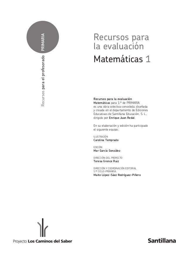 Evaluaciones De Matematicas 1º De Primaria