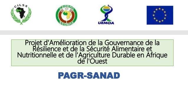 PAGR-SANAD Projet d'Amélioration de la Gouvernance de la Résilience et de la Sécurité Alimentaire et Nutritionnelle et de ...
