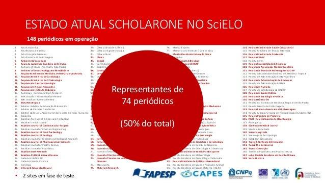 Panorama Geral do ScholarOne na Coleção SciELO Brasil e Retrospectiva 2017-2018 (IV Curso SciELO-ScholarOne) Slide 3