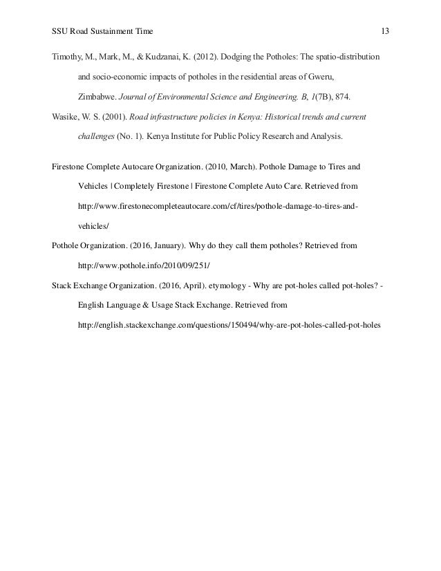 [PDF] Savannah State University Road Sustainment Time
