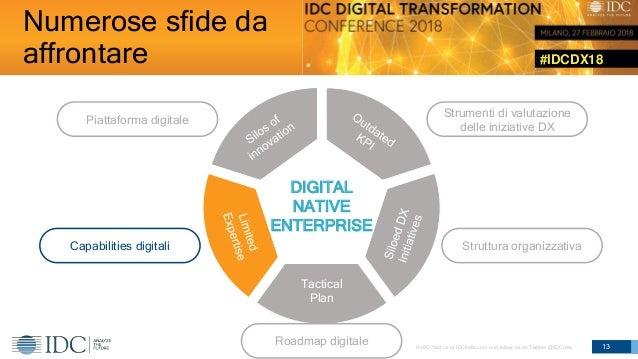 #IDCDX18 © IDC Visit us at IDCitalia.com and follow us on Twitter: @IDCItaly 13 DIGITAL NATIVE ENTERPRISE Tactical Plan St...