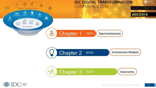 #IDCDX18 © IDC Visit us at IDCitalia.com and follow us on Twitter: @IDCItaly 2 Chapter 1 Chapter 2 Chapter 3 2007+ 2015+ 2...