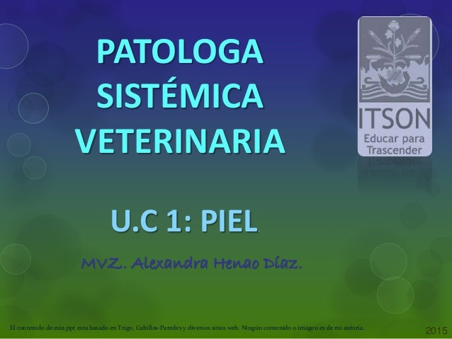 patologia sistemica veterinaria trigo