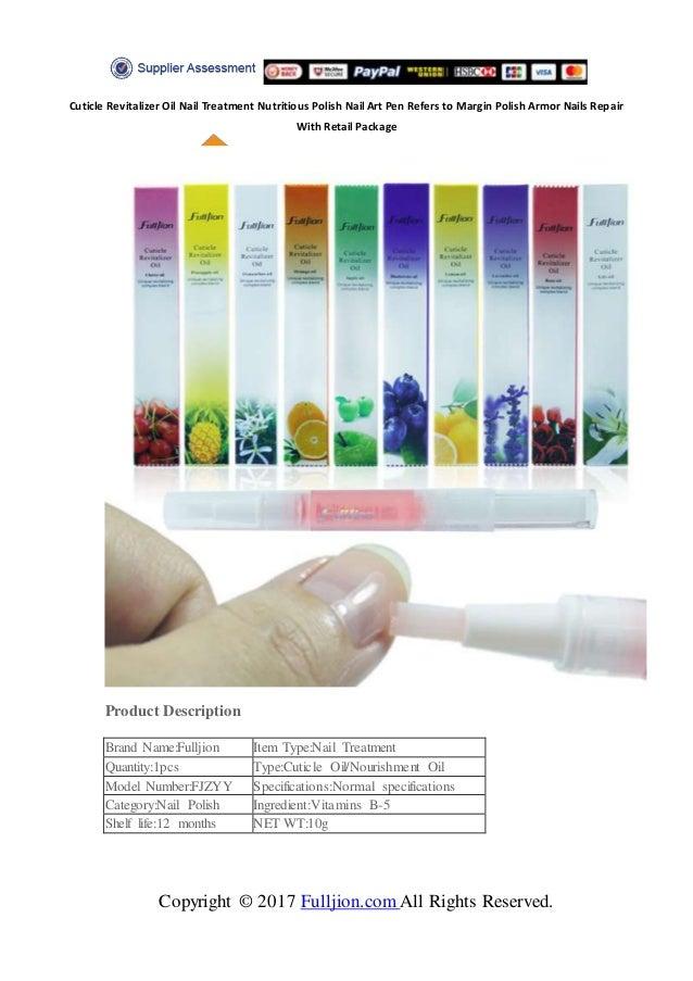 Fulljion Cuticle Revitalizer Oil Nail Treatment Nutritious Polish Nai…