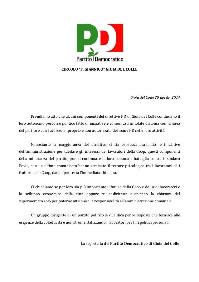 """CIRCOLO  """"F.  GIANNICO""""  GIOIA  DEL  COLLE         Gioia  del  Colle  29  aprile    2014  ..."""